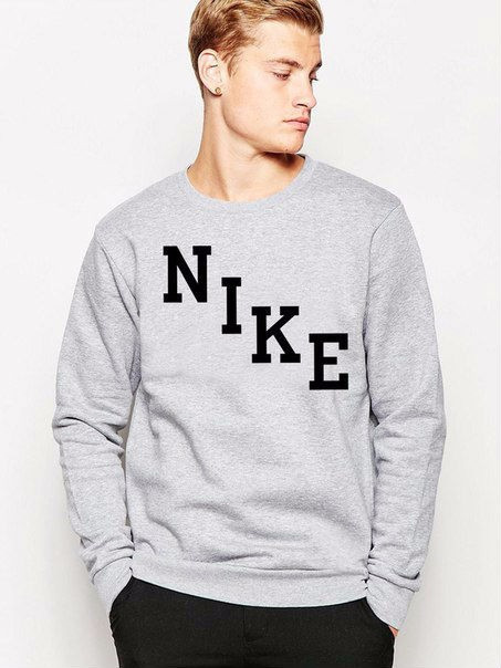 Серая мужская спортивная кофта Nike (Найк)