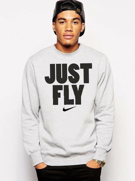 Мужская спортивная кофта (спортивный свитшот) Nike (Найк), серая