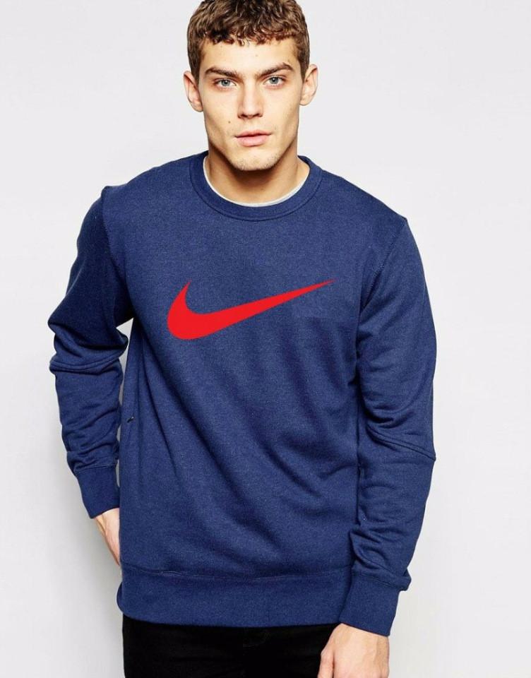 Темно-синяя мужская спортивная кофта Nike, (Найк)