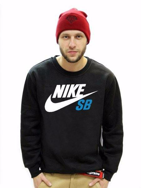 Черная мужская спортивная кофта Nike (Найк)