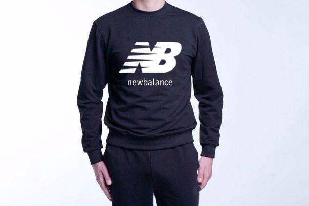 Демисезонная мужская спортивная кофта New Balance (Нью Беленс), черная