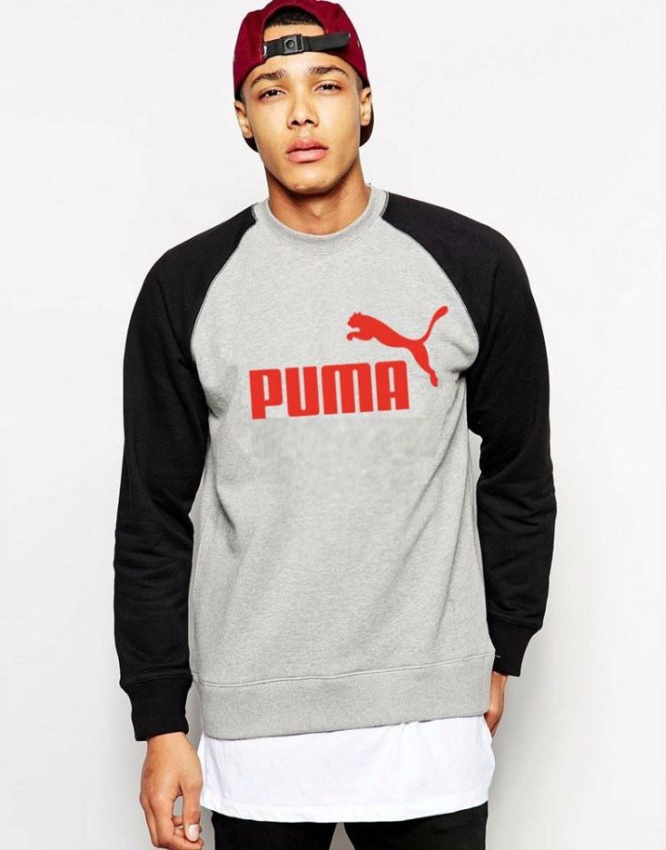 Серо-черная мужская спортивная кофта Puma (Пума)