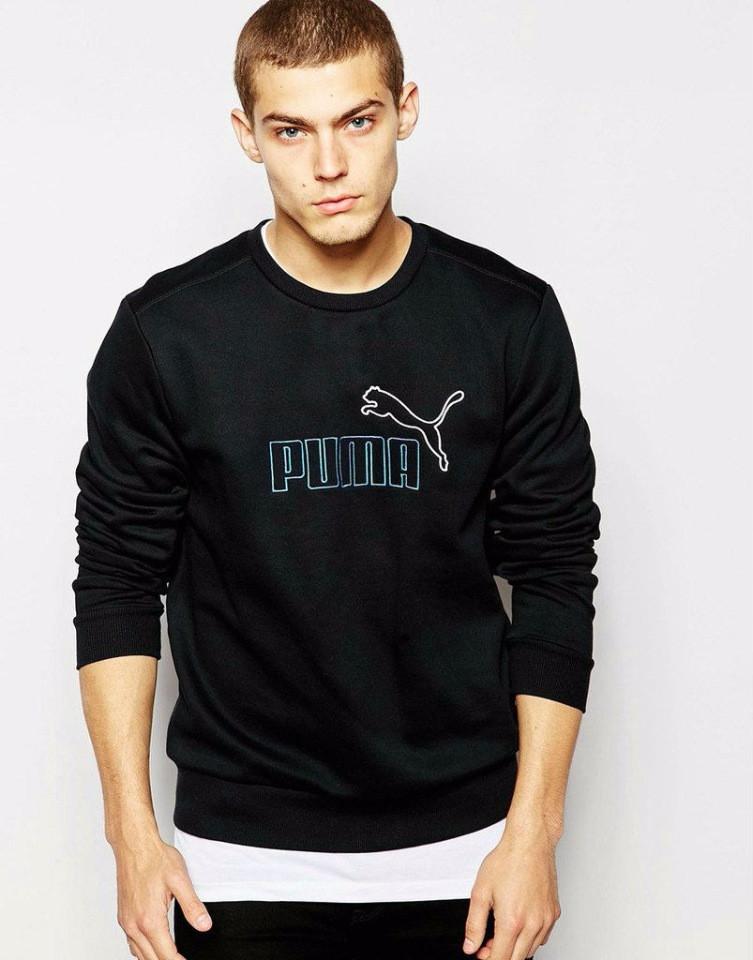 Черная мужская спортивная кофта Puma (Пума)