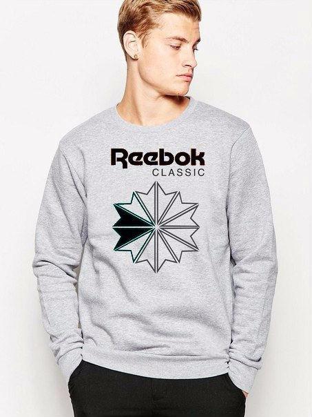 Мужской спортивный свитшот Reebok (Рибок), серый