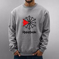 Серая мужская спортивная кофта Reebok (Рибок)