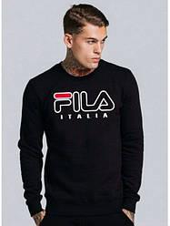 Демисезонная мужская спортивная кофта Fila (Фила), черная