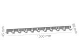 Бордюр пластмасовий тротуарний h 4,5 см (1000 мм), фото 3