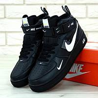 Nike Air Force 1 Mid Utlity Pack Black (реплика)