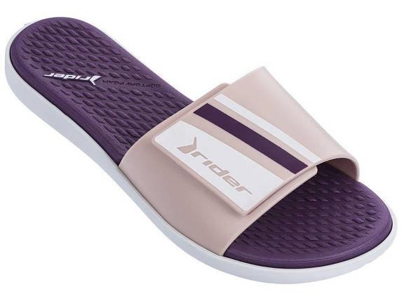 Оригинальные Шлепанцы Женские Rider 82569-22835 POOL Slide White/Pink/Purple, фото 2
