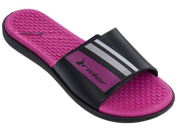 Оригинальные Шлепанцы Женские Rider 82569-22295 POOL Slide Black/Pink, фото 2