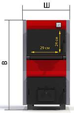 Котел твердотопливный PROTECH ТТП-18С Эконом (Econom) с плитой, фото 3