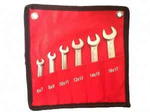 Набор ключей рожковых 6 предметов 6-17 мм AmPro NTK006 6-17 (Тайвань)