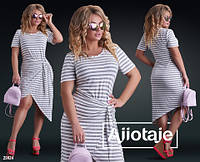 Асимметричное платье футболка на лето