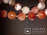 Бусы натуральный Агат граненый коричневый 12 мм, фото 2