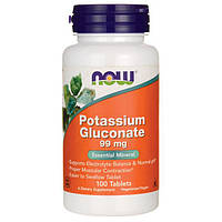 Мінеральна добавка NOW Foods Potassium Gluconate 99 mg 100 tabs