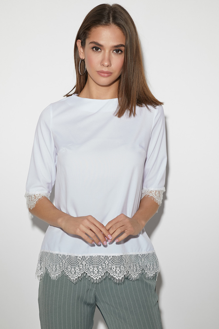 """Белая женская блузка """"Мэри милк"""""""