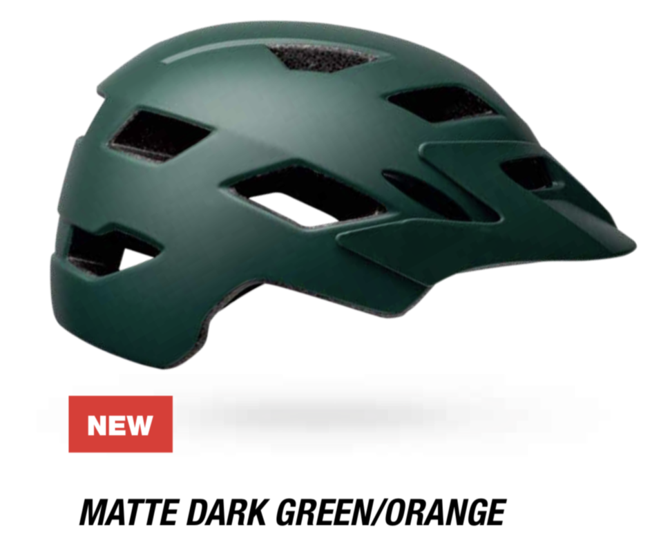 Велошлем подростковый Bell Sidetrack Youth матовый темно-зеленый /KTM оранжевый, Uni (50-57) (GT)