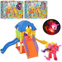 Игровой набор Детская площадка Домик Литл Пони (my Litle Pony), фигурка пони 10 см (светится), 1084