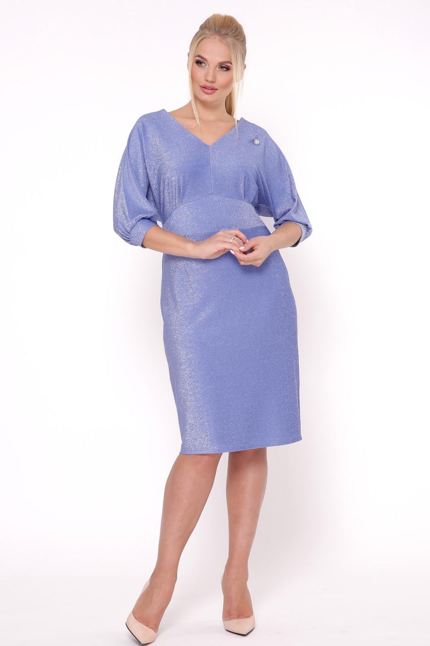 Женское платье Афина голубая фиалка / размер 50,52,54,56 / большие размеры