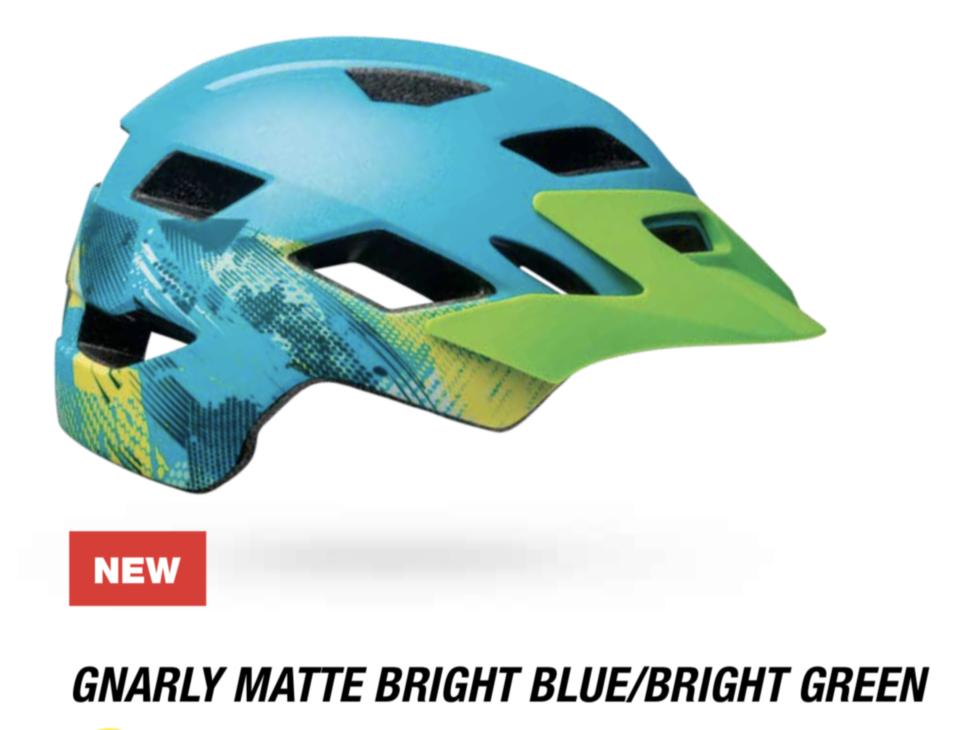 Велошлем подростковый Bell Sidetrack Youth матовый зеленый/синий Gnarly, Uni (50-57) (GT)