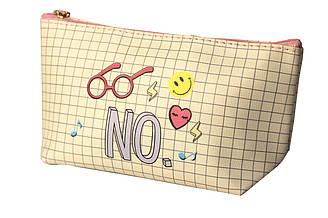 Компактная женская косметичка с рисунком Yes-No  (15935)