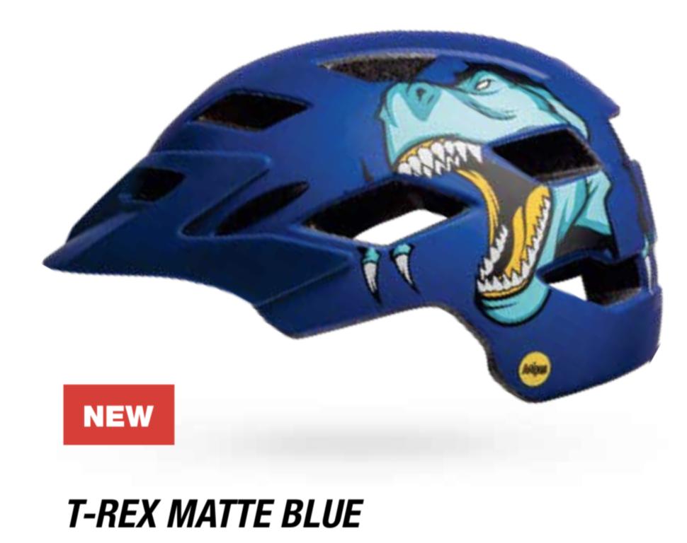 Велошлем подростковый Bell Sidetrack Youth матовый синий Rex, Uni (50-57) (GT)