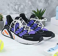 Мужские кроссовки Adidas Lexicon Black (Реплика ААА+)