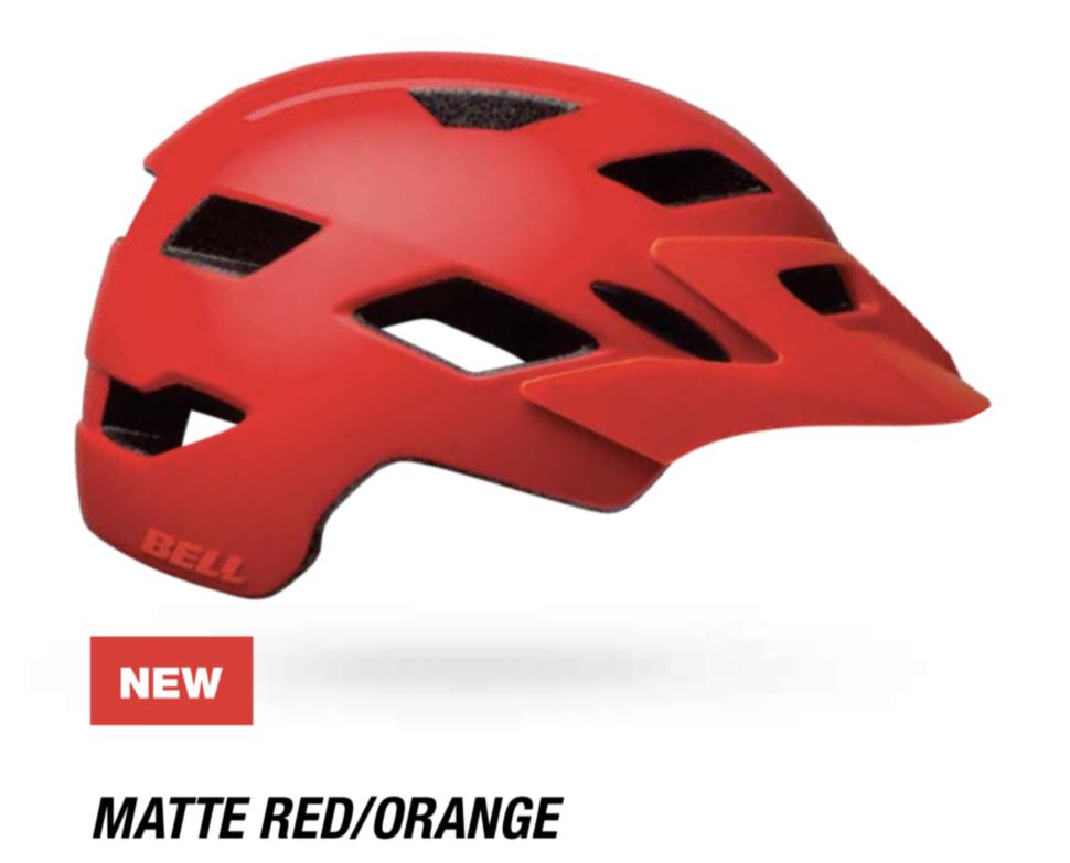 Велошлем подростковый Bell Sidetrack Youth матовый красный/оранжевый, Uni (50-57) (GT)