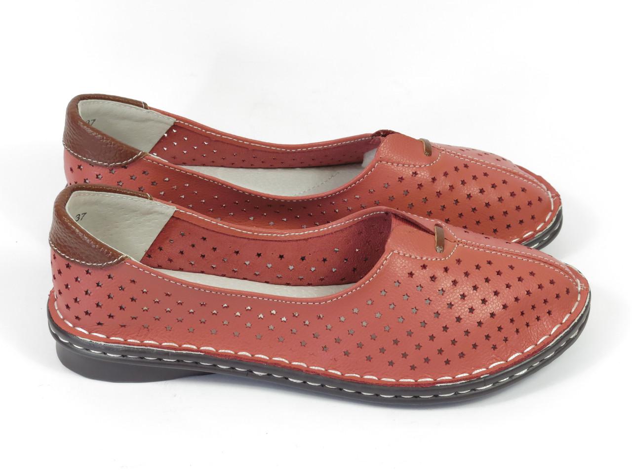 Женские мокасины Allshoes 77937-11 CORALL 36 23,5 см