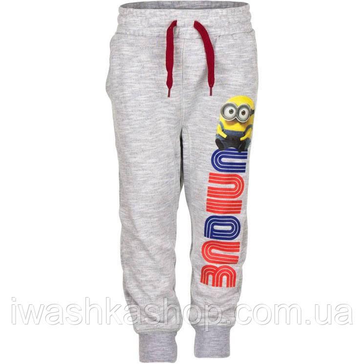 Стильные спортивные штаны - джоггеры, двунитка, Миньон Minions для мальчика 8 лет, р. 128, Sun City / Minions
