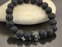 Браслет морда волка (браслет из лавы), фото 1