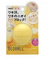 Дезодорант DEOBALL  с твердым телом с ароматом цитрусового сорбета  15 г Сделано в Японии