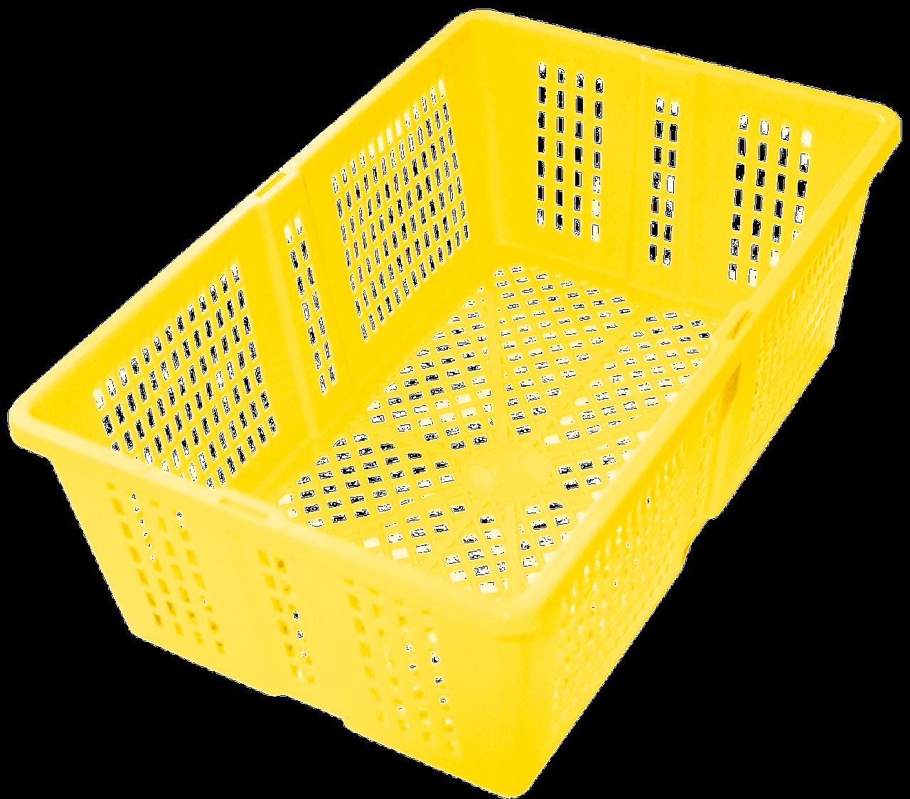"""Ящик универсальный """"Сетка""""лимон"""