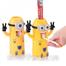 Дозатор зубной пасты и держатель щеток Миньон, фото 3