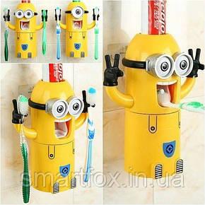 Дозатор зубной пасты и держатель щеток Миньон, фото 2