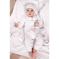 Крестильный набор для новорожденного из хлопка Модный карапуз 03-00575-0