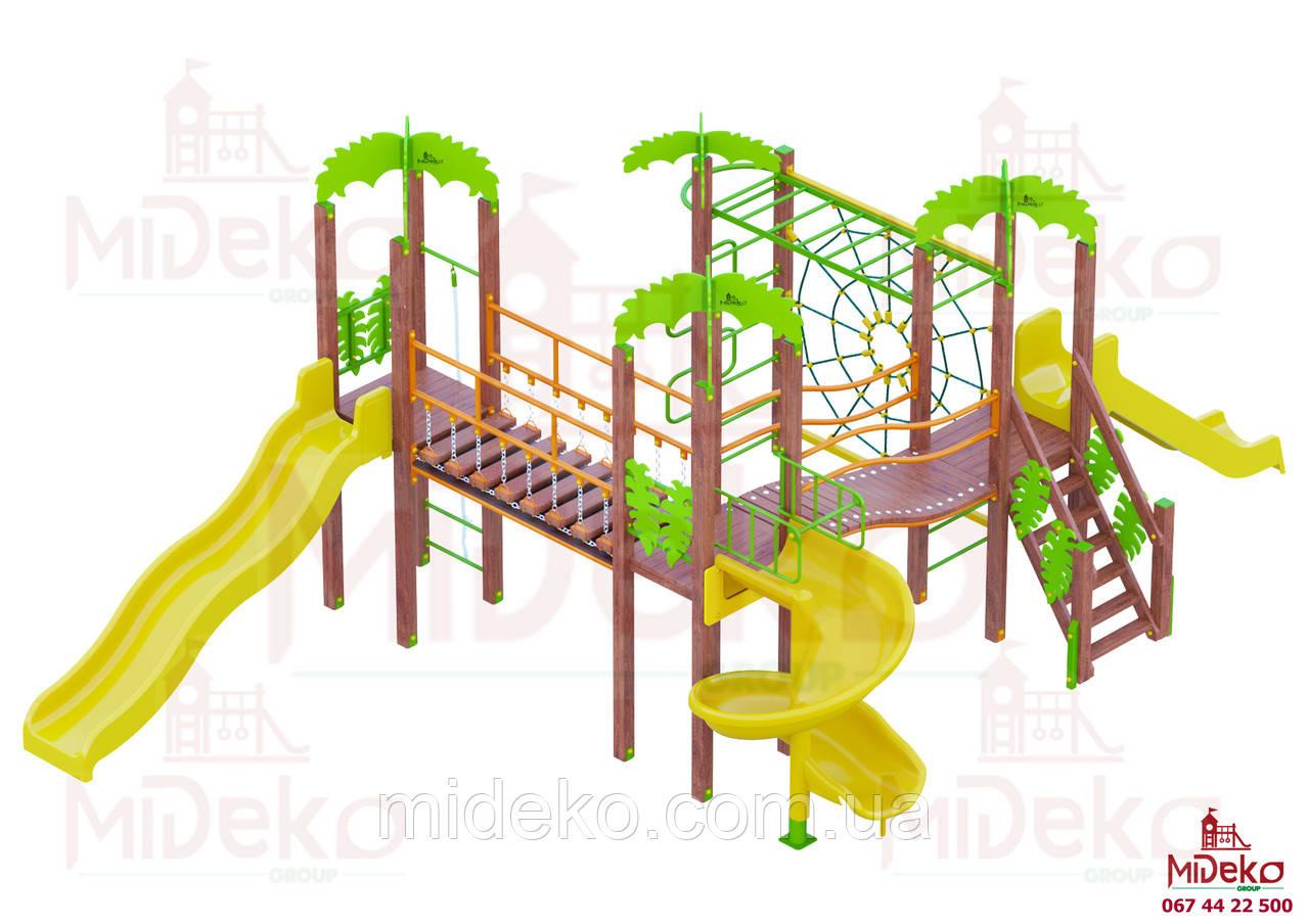 Игровой комплекс Трио джунгли МИДЕКО