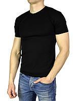 Черная мужская футболка однотонная WILUSA на лето, фото 1
