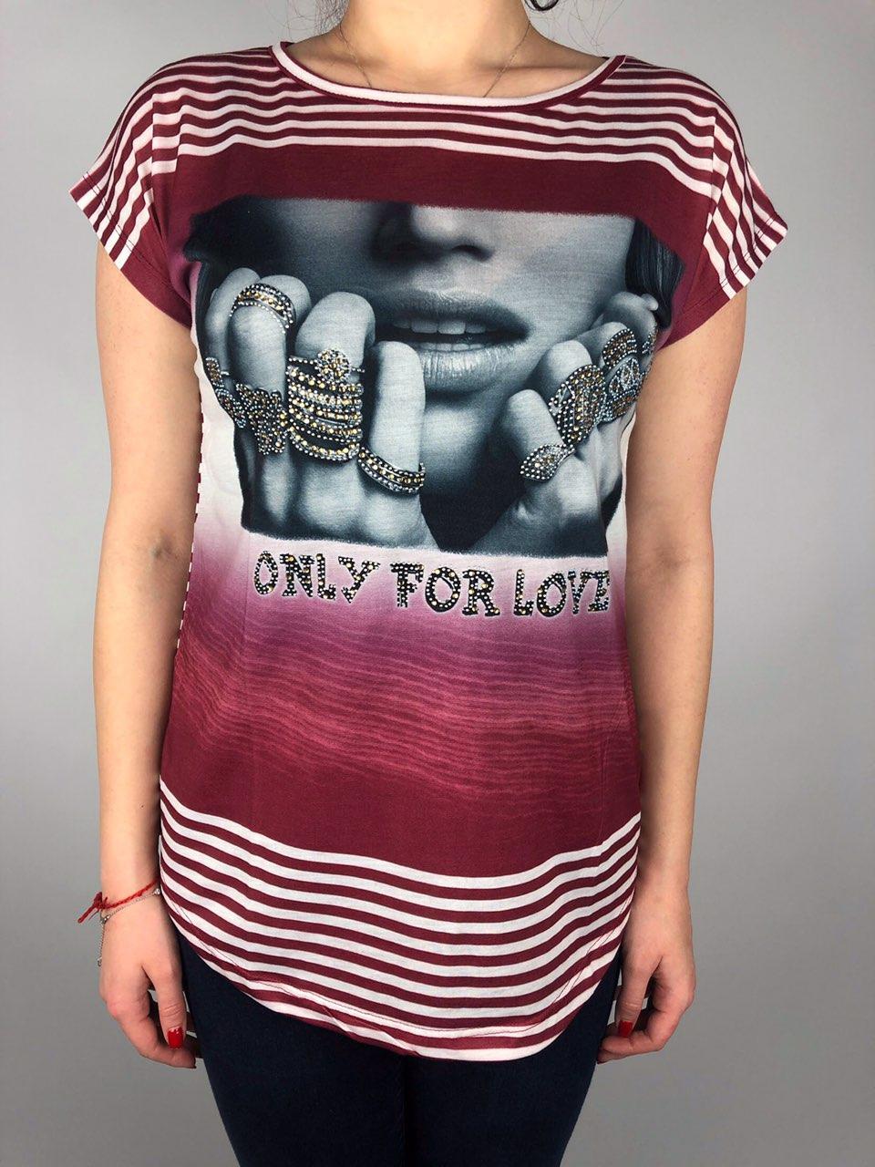 Женская Красивая футболка Оптом