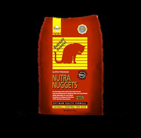 Корм для кошек Nutra Nuggets Hairball Control 10 кг, фото 2