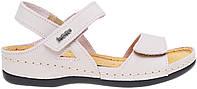 Женские кожаные сандали сандалии без каблука розовые Inblu 06-2A