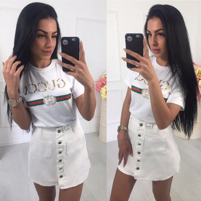 Женская джинсовая юбка на пуговицах спереди vN3240