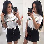Женская джинсовая юбка на пуговицах спереди vN3240, фото 2