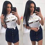 Женская джинсовая юбка на пуговицах спереди vN3240, фото 3