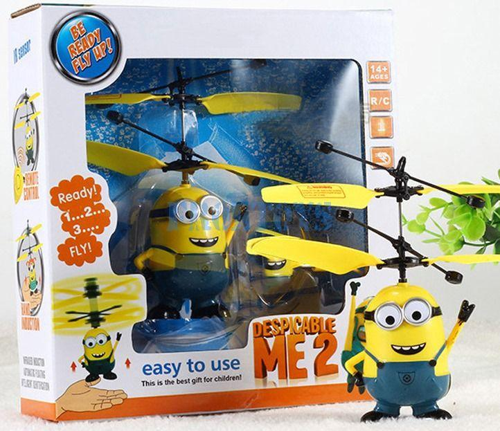 Игрушка летающий миньон вертолет гадкий я