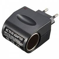 Адаптер переходник от прикуривателя 12V-220V Black