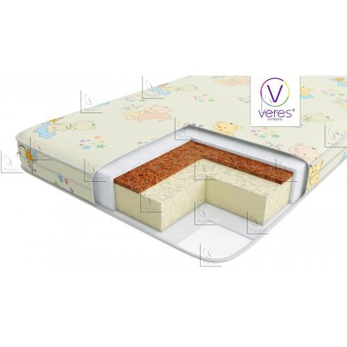Матрас для новорожденных  Veres Junior+  8 см, двусторонний кокосовый матрас