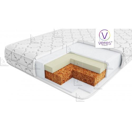 "Матрас для новорожденных  Veres ""Memory Bi"" 120х60х10 см  двусторонний анатомический матрас"