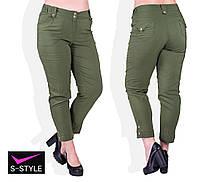 Женские летние брюки 48-58 р хаки