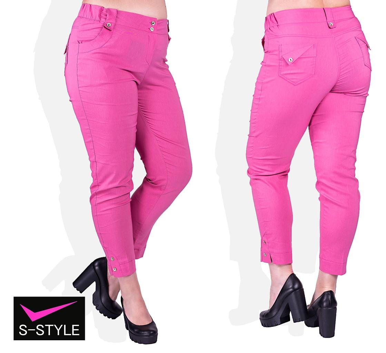 Женские летние брюки 48-58 р розовый